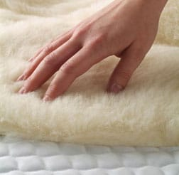 Hand on wool